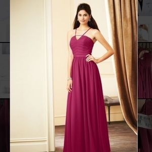 Alfred Angelo bridesmaid dress in Berry